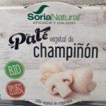 Paté vegetal de champiñón