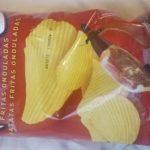 Patatas fritas onduladas de jamon