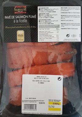 Pavé de saumon fumé à la ficelle