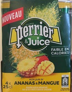 Perrier juice ananas mangue