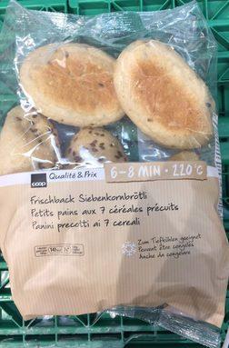 Petits pains aux 7 céréales précuits
