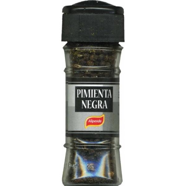Pimienta negra en grano molinillo