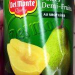 Poires demi-fruits au sirop léger