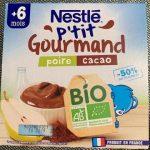 P'tit Gourmand BIO  Nestlé Poire Cacao