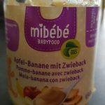 Purée pomme-banane avec zwieback