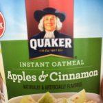 Quaker Instant Oatmeal Apples & Cinnamon