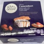 Queso Camembert madurado con hongo blanco comestible