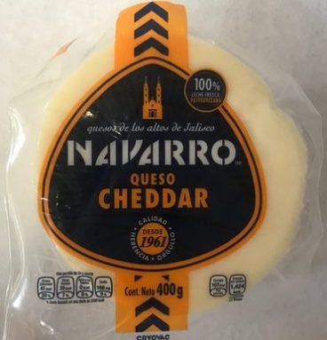 Queso Cheddar Navarro