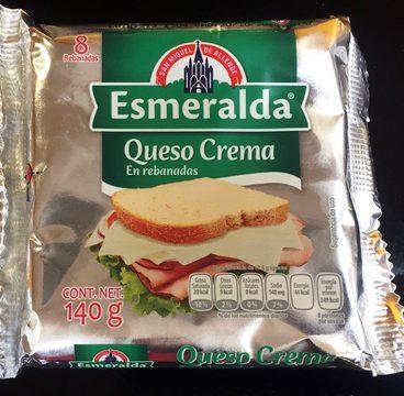 Queso Crema en rebanadas Esmeralda