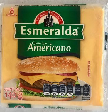 Queso tipo Americano Esmeralda