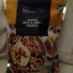 Raisins nuts and honey granola