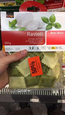 Raviolis au fromage et au pesto