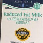 Reduced Fat Milk