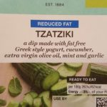 Reduced fat Tzatziki