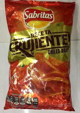 Sabritas Chiles Rojo Receta crujiente