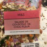 Salade de couscous de chou-fleur