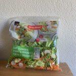 Salade tendre et croquante lavée