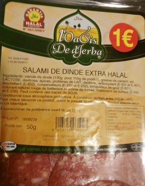 Salami de dinde extra halal