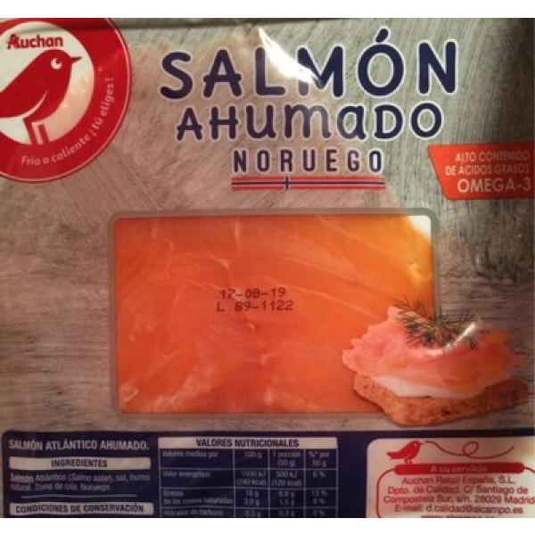 Salmón noruego ahumado