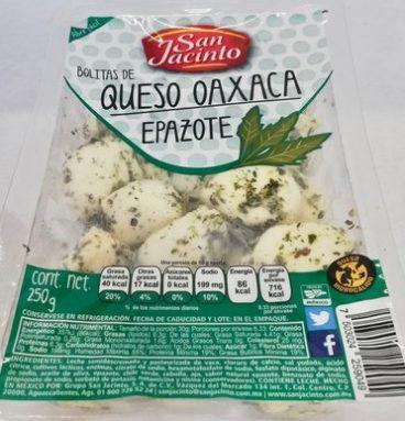 San Jacinto Bolitas de Queso oaxaca con epazote