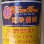 Sauce de soja claire