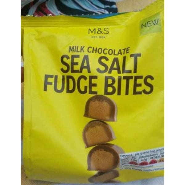 Sea salt fudge bites