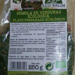 Semola de verduras ecológica