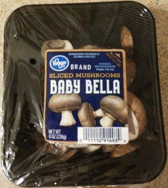 Sliced Mushrooms: Baby Bella