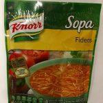 Sopa Fideos