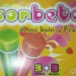 Sorbete Lima limón y Fresa