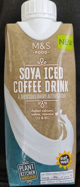 Soya iced coffee drink