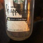 Starbucks  Frappuccino cold brew