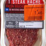 Steak hache facon bouchere 5% de matiere grase