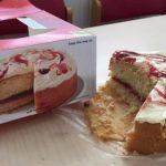 Strawberry & cornish clotted cream cake