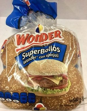 SuperBollos Wonder con Ajonjolí