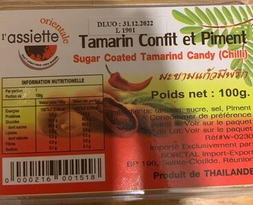 Tamarin confit piment