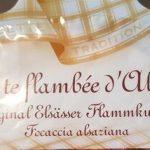 Tarte flambée d'Alsace