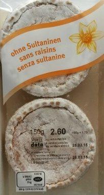 Tartelettes de Pâques sans Raisin
