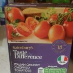 Taste the difference Italian chunky chopped tomatoes