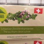 Thé au thym citron suisse