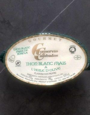 Thon blanc frais à l'huile d'olive