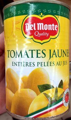 Tomates jaunes entières pelées au jus