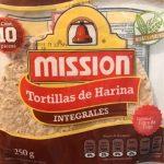 Tortillas de harina integrales