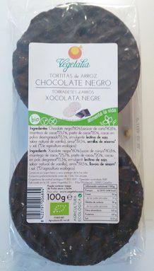 Tortitas de Arroz con Chocolate Negro