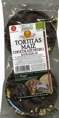 Tortitas de Maiz Chocolate negro