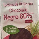 Tortitas de aeroz con chocolate negro 60% sin gluten