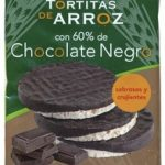 Tortitas de arroz con 60% de chocolate negro