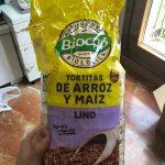Tortitas de riz et mais au lin
