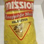 Totopos de maíz salados
