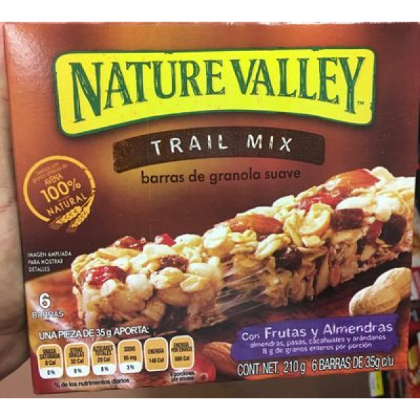 Trail Mix barras de granola suave
